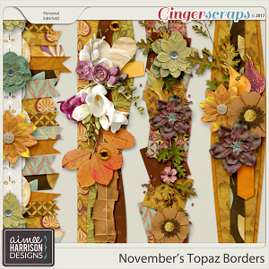 November's Topaz Borders by Aimee Harrison