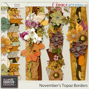November's Topaz Borders by Aimee Harrison