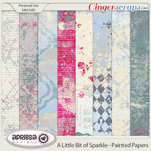 A Little Bit Of Sparkle - Painted Papers