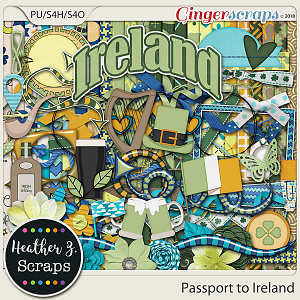 Passport to Ireland KIT by Heather Z Scraps