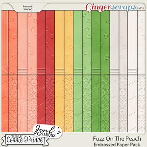 Fuzz On The Peach - Embossed Papers