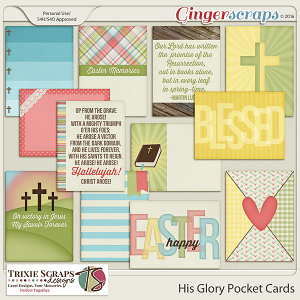 His Glory Pocket Cards by Trixie Scraps Designs