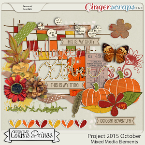 Project 2015 October - Mixed Media Elements