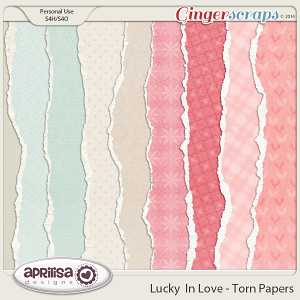 Lucky In Love - Torn Papers by Aprilisa Designs