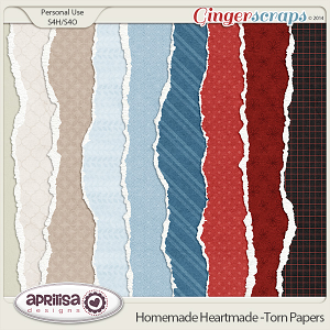 Homemade Heartmade - Torn Papers by Aprilisa Designs