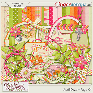 April Daze Page Kit