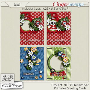 Project 2013:  December - Printable Greeting Cards