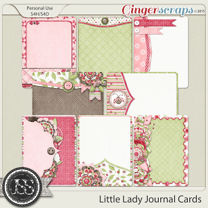 Little Lady Journal and Pocket Scrapbooking Cards