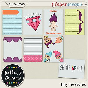 Tiny Treasures JOURNAL CARDS by Heather Z Scraps