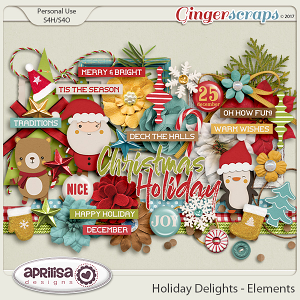 Holiday Delights - Elements by Aprilisa Designs