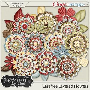 Carefree Layered Flowers