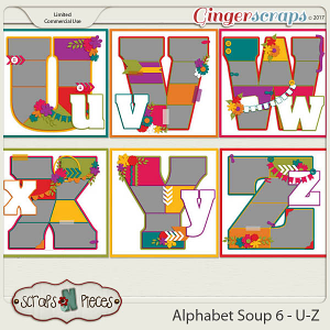 Alphabet Soup Template Pack 6 - U-Z