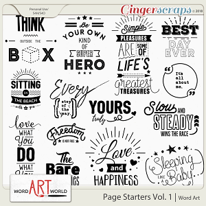 Page Starters Vol. 1 Word Art