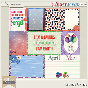 Taurus Cards by JoCee Designs