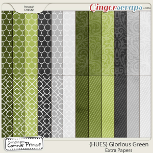 {HUES} Glorious Green - Extra Papers