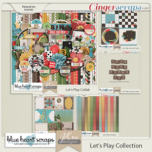 Let's Play Bundle by Blue Heart Scraps and JoCee Designs