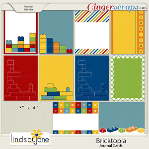 Bricktopia JournalCards by Lindsay Jane