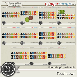 Touchdown CU Photoshop Styles Bundle