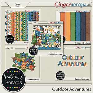 Outdoor Adventures KIT by Heather Z Scraps