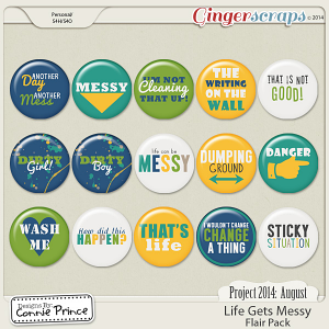 Project 2014 August: Life Gets Messy - Flair Pack