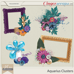 Aquarius Clusters by JoCee Design