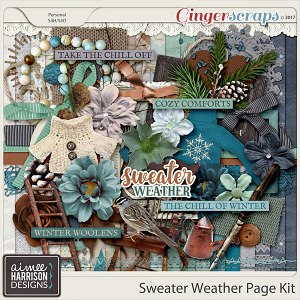 Sweater Weather Page Kit by Aimee Harrison