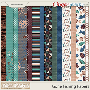Gone Fishing Papers by JoCee Designs