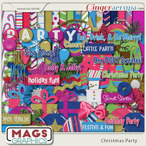 Christmas Party Kit by MagsGraphics