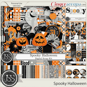 Spooky Halloween Digital Scrapbooking Bundle
