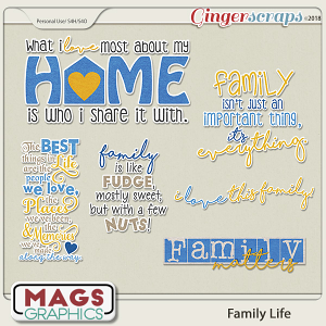 Family Life WORD ART by MagsGraphics