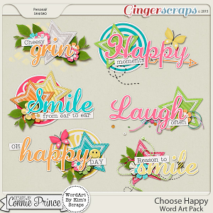 Choose Happy - Word Art