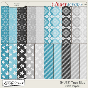 {HUES} True Blue - Extra Papers