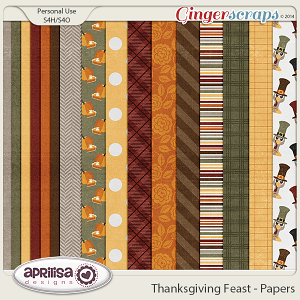Thanksgiving Feast - Papers by Aprilisa Designs