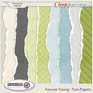 Forever Young Torn Papers by Aprilisa Designs