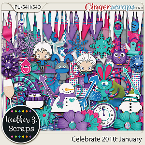 Celebrate 2018: January KIT by Heather Z Scraps