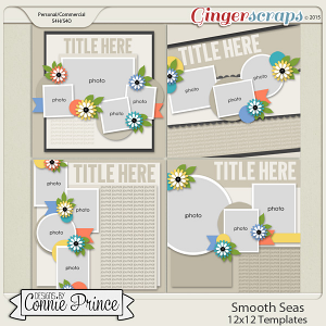 Smooth Seas - 12x12 Templates (CU Ok)