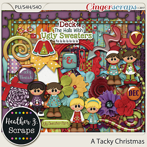 A Tacky Christmas KIT by Heather Z Scraps