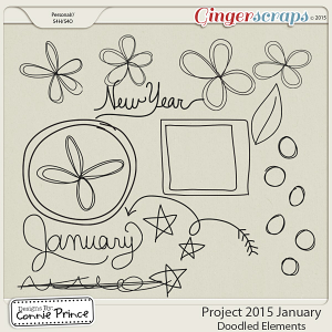 Project 2015 January - Doodled Elements