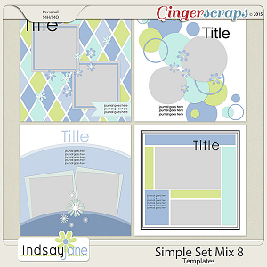 Simple Set Mix 8 Templates by Lindsay Jane