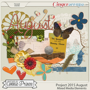 Project 2015 August - Mixed Media Elements