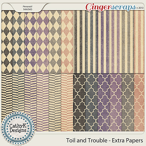 Toil and Trouble Extra Papers: by CathyK Designs