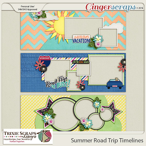 Summer Road Trip Timelines by Trixie Scraps Designs