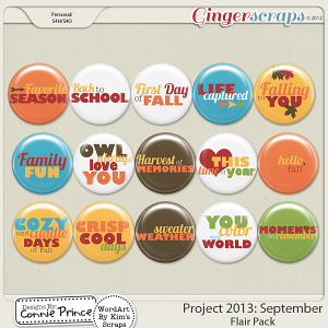 Retiring Soon - Project 2013:  September - Flair Pack