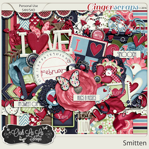 Smitten Digital Scrapbooking Kit