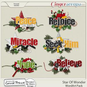 Star Of Wonder - WordArt