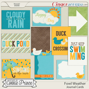 Fowl Weather - Journal Cards