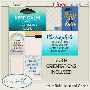 Let It Rain Journaling Cards