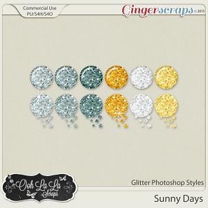 Sunny Days Glitter Photoshop Styles