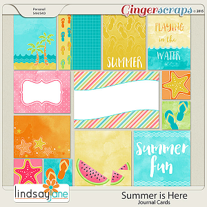 Summer is Here Journal Cards by Lindsay Jane