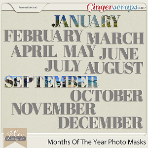 Months Of The Year Photo Templates by JoCee Designs